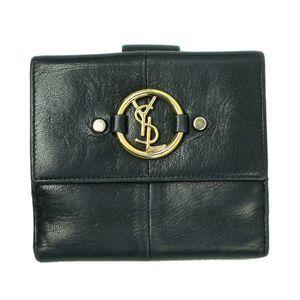 Yves Saint Laurent Bitfold Wallet in Black